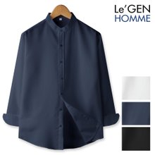 르젠 심플컬러 차이나카라 노멀핏 셔츠(LNSH1269PE)