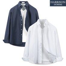 [해리슨] 오버핏 옥스포드 긴팔 셔츠 RTW1453
