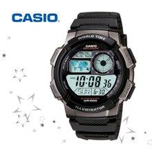 AE-1000W-1B 남성 우레탄 밴드 전자  군인 손목 시계