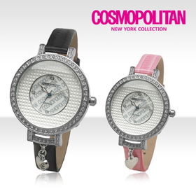 [코스모폴리탄 시계] 한국 공식본사 정품 여성 가죽 시계 CP-103L