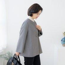 엄마옷 마담4060 노카라체크자켓-ZJK002004-