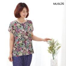 엄마옷 모슬린 인견 플라워 티셔츠 TS007010