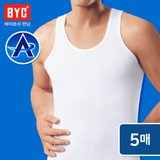 [BYC] 남성 에어로쉬 민소매런닝 5매세트/기능성런닝/여름런닝/땀흡수/등산/스포츠활동