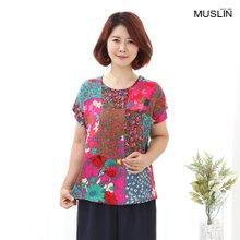 엄마옷 모슬린 인견 데이지 티셔츠 TS007012