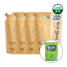[참그린] 참그린 순수발효 주방세제 곡물/식물 1200ml X 4개