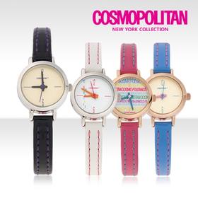 [코스모폴리탄 시계] 한국 공식본사 정품 여성 가죽 시계 CP-1207L