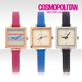 [코스모폴리탄 시계] 한국 공식본사 정품 여성 가죽 시계 CP-1208L