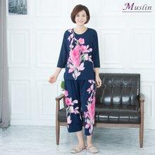 핑크플라워상하세트 홈웨어 -HS1074- 모슬린 엄마옷