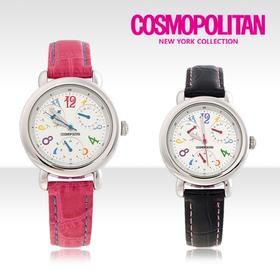 [코스모폴리탄 시계] 한국 공식본사 정품 여성 가죽 시계 CP-1210L