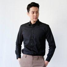 [파파브로]남성 캐주얼 정장 남방 면 카라 셔츠 LSC-ST-001-블랙