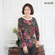 엄마옷 모슬린 겉기모 플라워 진주 티셔츠 TS910373