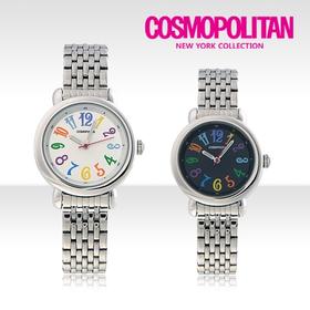 [코스모폴리탄 시계] 한국 공식본사 정품 여성 메탈 시계 CP-1211L
