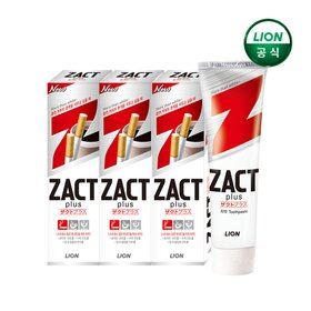 작트(ZACT) 미백치약 150g x 4개
