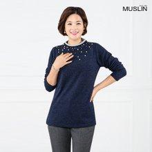 엄마옷 모슬린 은하수블링진주 겉기모티셔츠 TP809064