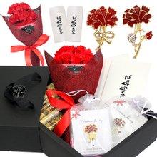 [NeeGee]카네이션비누꽃 브로치 용돈박스 올인원 선물세트