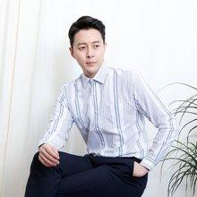 [파파브로]남성 스트라이프 캐주얼 정장 남방 셔츠 LSC-ST-002-화이트