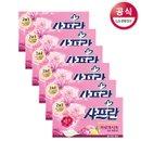 [샤프란] 뽑아쓰는 아로마 시트 섬유유연제 핑크 센세이션 30매 x6개 후레쉬 드림 코튼 블로섬