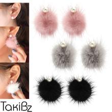 [타키비즈] 밍크펄 볼륨 귀걸이