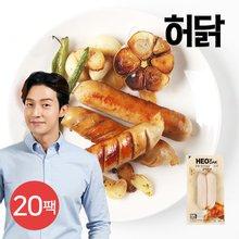 [허닭] 닭가슴살 소시지 갈릭훈제 120g 20팩