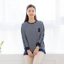 마담4060 엄마옷 스트라이프진주티셔츠-ZTE002003-