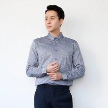 [파파브로]남성 패턴 카라넥 정장 남방 면 셔츠 LSC-ST-005-그레이