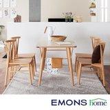 [에몬스홈]올리 4인 식탁세트 (방석형)