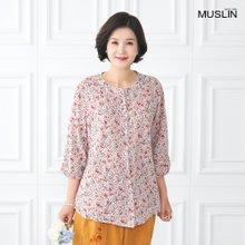 엄마옷 모슬린 여밈 잔꽃 생활 한복 상의 KD004416