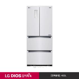 [LG][쿨매트 증정!] DIOS 김치톡톡 스탠드형 샤이니 화이트 K418SW11 (402ℓ)