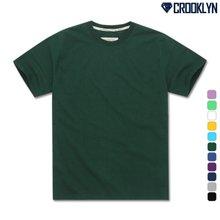 [크루클린] TRS-100 프리미엄 오버핏 무지 반팔 티셔츠