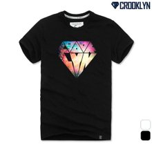 [크루클린] 스페이스 다이아몬드 반팔 티셔츠 TRS157