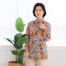 마담4060 엄마옷 꽃과함께반폴라티셔츠-ZTE002046-