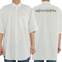 [발렌시아가] 로고 스트라이프 621912 TIM35 9040 남자 반팔 셔츠