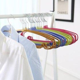 [홈앤하우스] 논슬립 코팅 라운딩옷걸이 40P(블루10P+핑크10P+골드10P+그린10P)