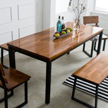 멀바우원목 홈즈 6인용 식탁테이블