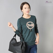 엄마옷 모슬린 캐리지 티셔츠 TS0900