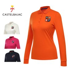 [까스텔바작] 토마토 자수 포인트 카라넥 여성 티셔츠/골프웨어_BG7FTS505
