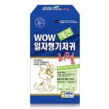 와우한빛 애견 일자 중형기저귀(리필용) 100매X4팩, 400매