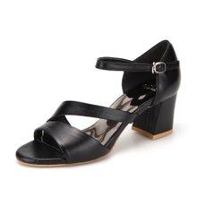 비클리프 블랙 어반시크 라인샌들 B2578 7cm