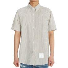 [톰브라운] 스트라이프 MWS239A 00572 035 남자 반팔 셔츠