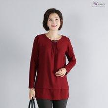 엄마옷 모슬린 진주 핀턱 티셔츠 TS8091314