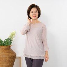 마담4060 엄마옷 절개이중티셔츠 QTE908001