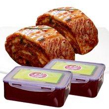 도미솔 통통김치 포기김치 5kg+5kg+김치통 2개