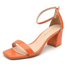 비클리프 오렌지 모던심플라인 샌들 B4625 6cm