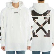 [오프화이트] 카라바지오 애로우 더블 티 OMAB033S 20185004 0188 남자 기모 후드 긴팔 맨투맨 티셔츠