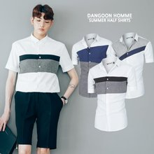 [단군] 여름기획 남성 반팔 배색셔츠 3종SET