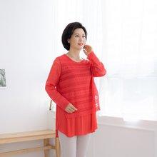 마담4060 엄마옷 세련스러운플리츠티셔츠 ZTE002034