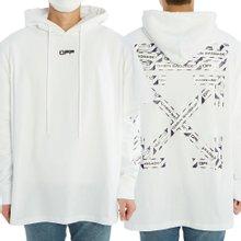 [오프화이트] 에어포트 테이프 더블 티 OMAB033S 20185003 0188 남자 기모 후드 긴팔 맨투맨 티셔츠