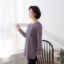 마담4060 엄마옷 톡톡한체크티셔츠 ZTE002032