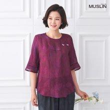 엄마옷 모슬린 인견 리본 생활 한복 상의 KD005209