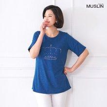 [엄마옷 모슬린] 킹덤 라운드 티셔츠 TS005206